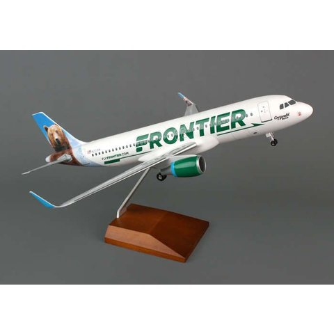 A320S Frontier Grizwald the Bear Sharklets 1:100 Supreme with wooden stand + gear