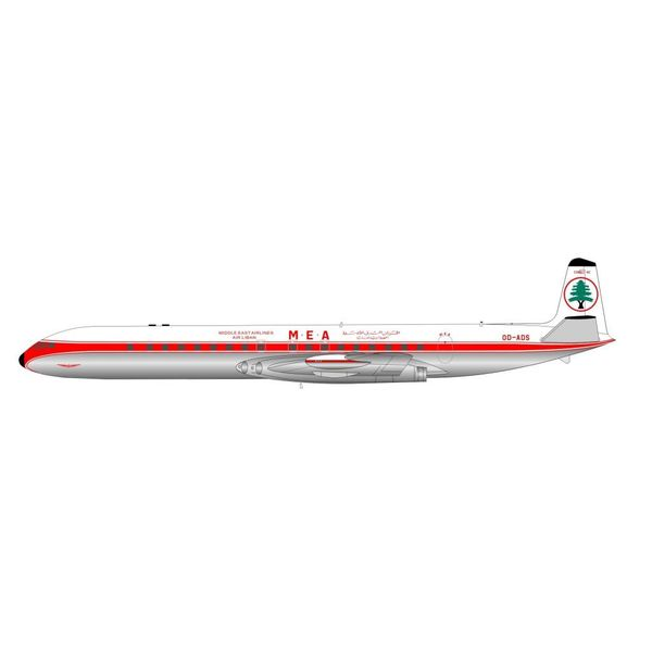 InFlight DH106 Comet 4C MEA OD-ADS Polished 1:200 with stand