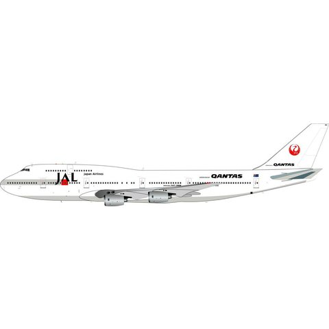 B747-300 QANTAS JAL livery VH-EBX 1:200 with stand