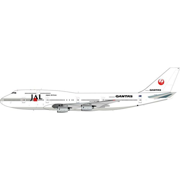 InFlight B747-300 QANTAS JAL livery VH-EBX 1:200 with stand