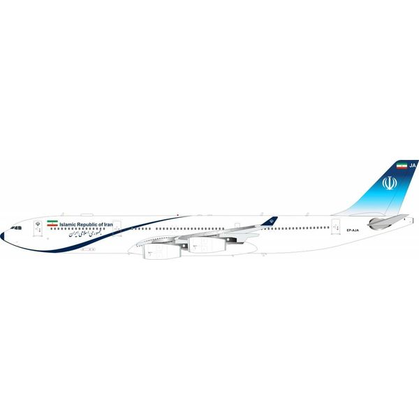 InFlight A340-300 Islamic Republic of Iran EP-AJA 1:200 with Stand