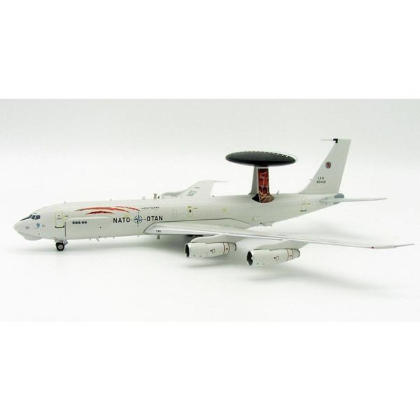 InFlight NE3A (B707-300) Sentry AWACS NATO Luxembourg LX-N90458 Tiger 1:200 With Stand
