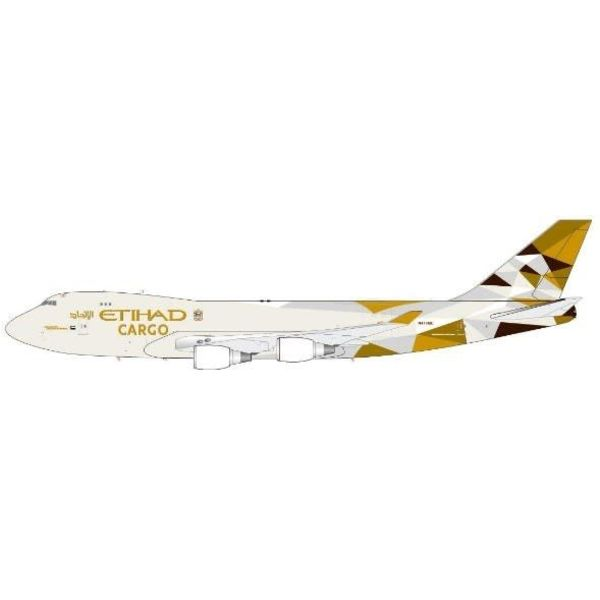 JC Wings B747-400F Etihad Cargo New Livery 2014 1:200 with stand