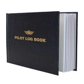 "Pilot Logbook Small Black hardcover 8 3/4"" x 5 1/2"""