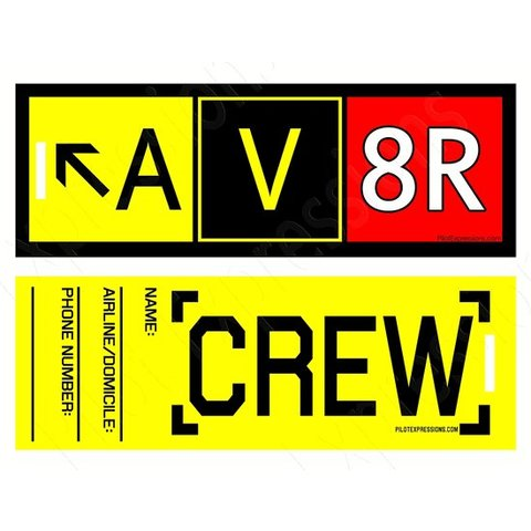 Luggage Tag Av8r Plastic