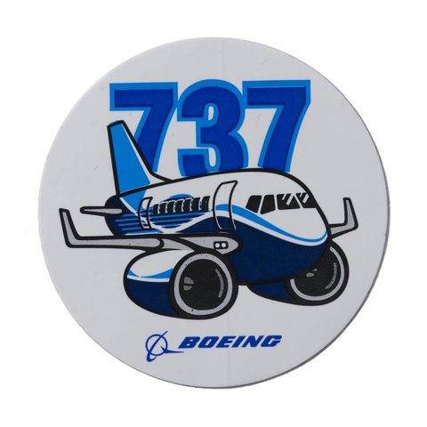 """737 Pudgy Plane Sticker round 3"""""""