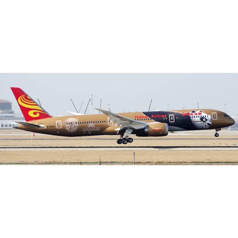 B787-9 Dreamliner Hainan Airlines Kung Fu Panda 4 KFP4 Gold B-1343 1:200 with stand