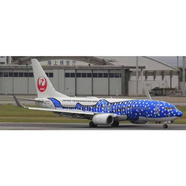 JC Wings B737-800W Japan Transocean Airways JTA Jinbei Jet Livery 1:200 with stand