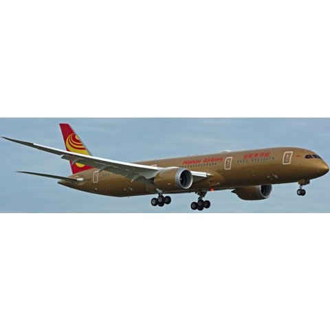 B787-9 Dreamliner Hainan all Gold livery B-1343 1:400 Flaps down