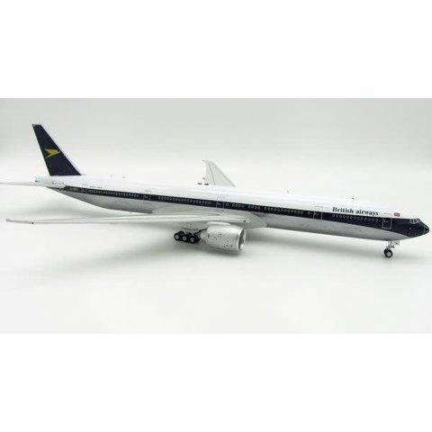 B777-300ER British Airways Retro Blue tail Gold Chevron D 1:200 with Stand