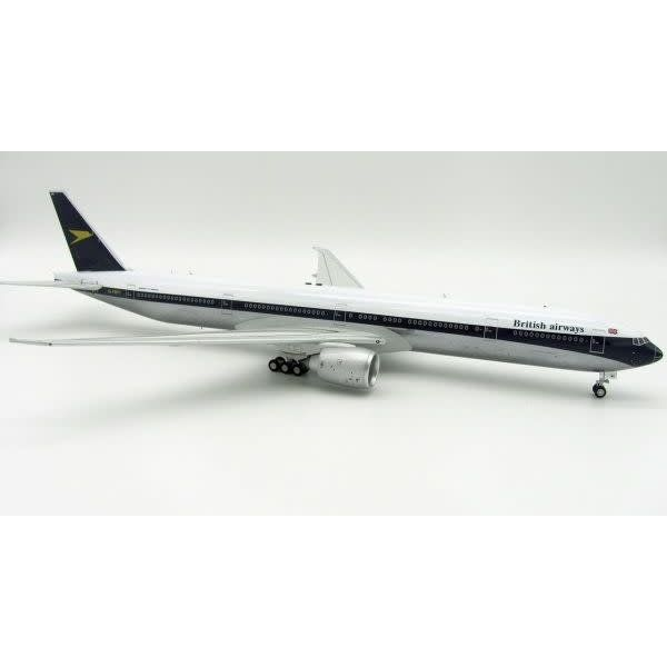 InFlight B777-300ER British Airways Retro Blue tail Gold Chevron D 1:200 with Stand