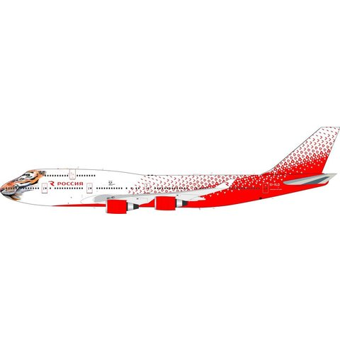 B747-400 Rossiya Russian Airlines EI-XLD Amur Tiger Centre 1:200 with stand