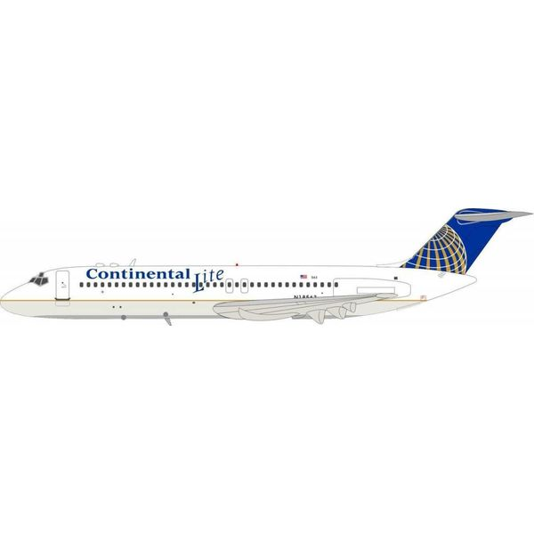 InFlight DC9-31 Continental Lite N18563 1:200 With Stand