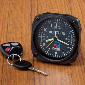 Sporty's ALTIMETER DESK CLOCK CESSNA LOGO