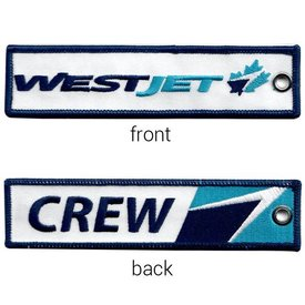 avworld.ca Key Chain Westjet CREW old Livery, embroidered