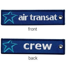 avworld.ca Key Chain Air Transat CREW Embroidered