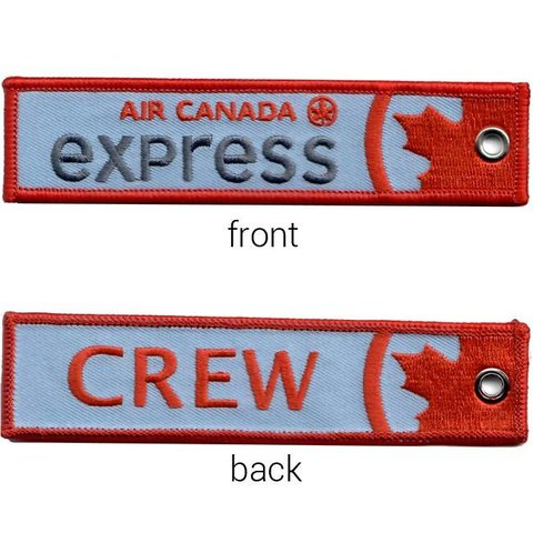 Key Chain Air Canada express old livery CREW Embroidered
