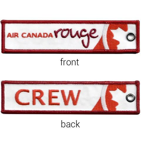 KEY CHAIN AIR CANADA ROUGE EMBROIDERED