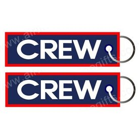 KEY CHAIN CREW (blue w/red trim)