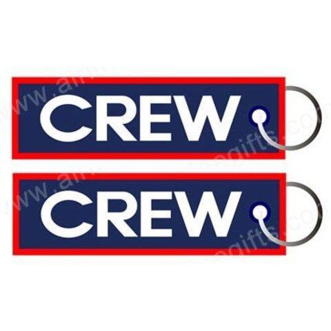 KEY CHAIN CREW (blue w/red trim)
