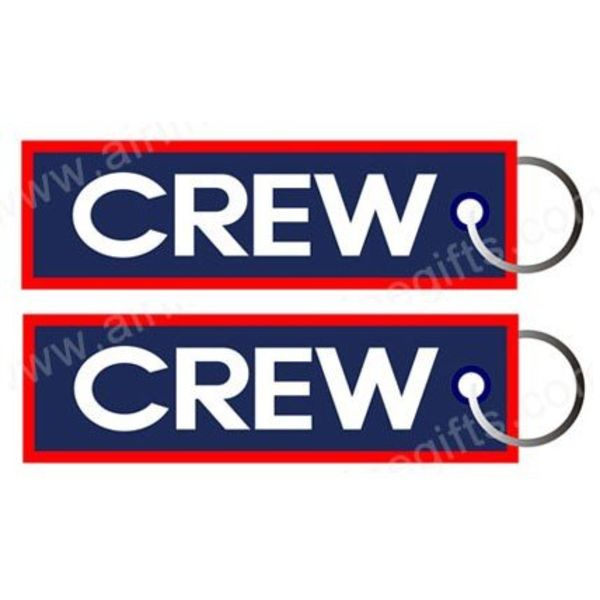 KEY CHAIN CREW BLUE RED TRIM