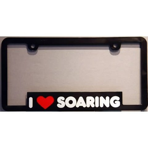 Licence Plate Frame I Love Soaring