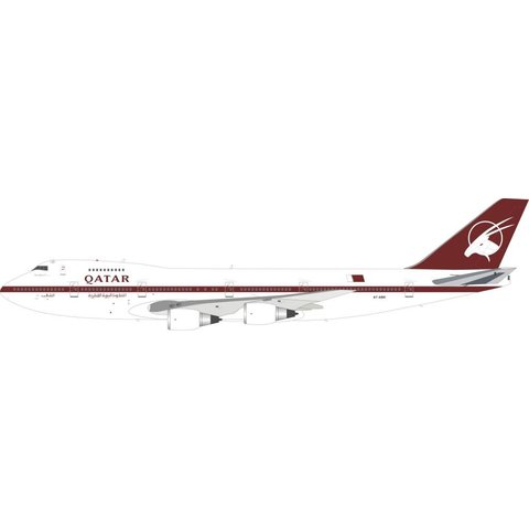 B747SR-81 Qatar Airways  A7-ABK 1:200 With Stand
