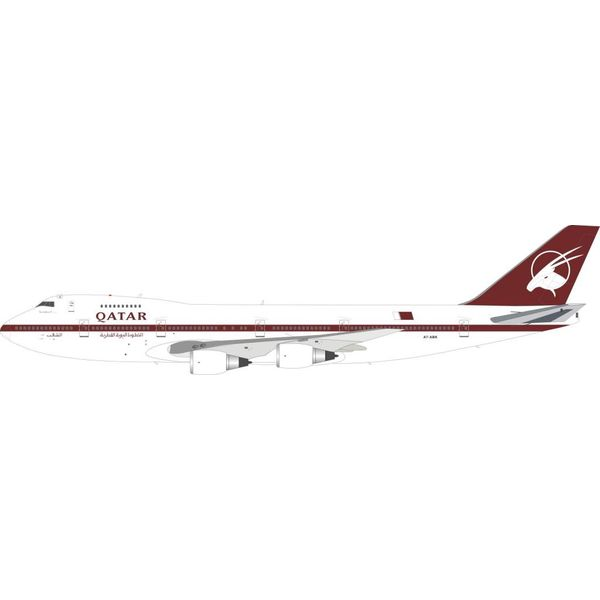 InFlight B747SR-81 Qatar Airways  A7-ABK 1:200 With Stand