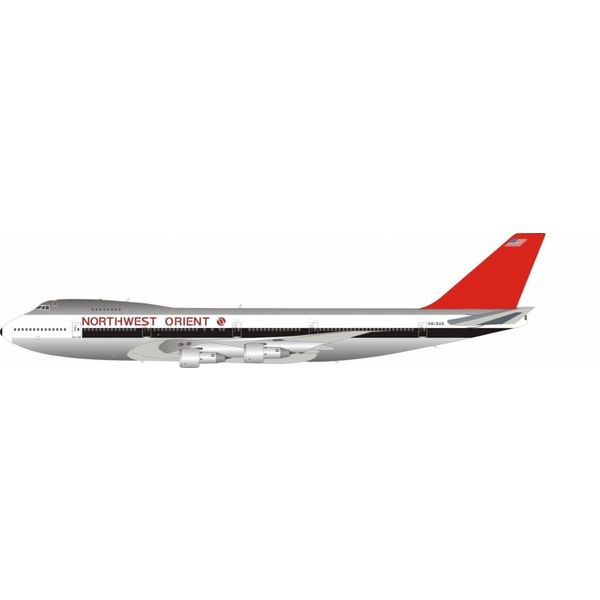 JFOX B747-200 Northwest Orient N613US 1:200 with Stand (Limited 66 Pieces)