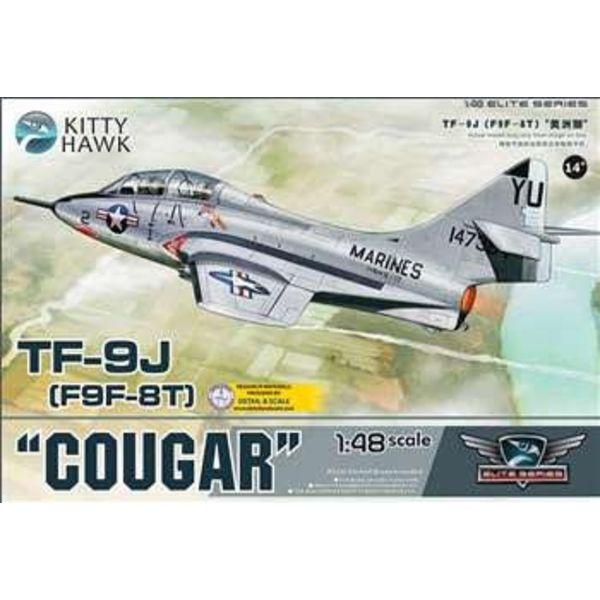 Kitty Hawk Models TF9J/F9F-8T COUGAR USMC 1:48 SCALE KIT