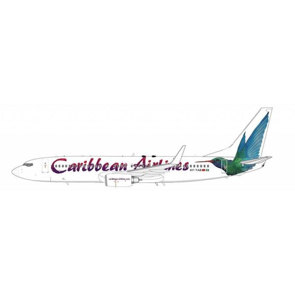 JC Wings B737-800W Caribbean Hummingbird 1:200 with stand