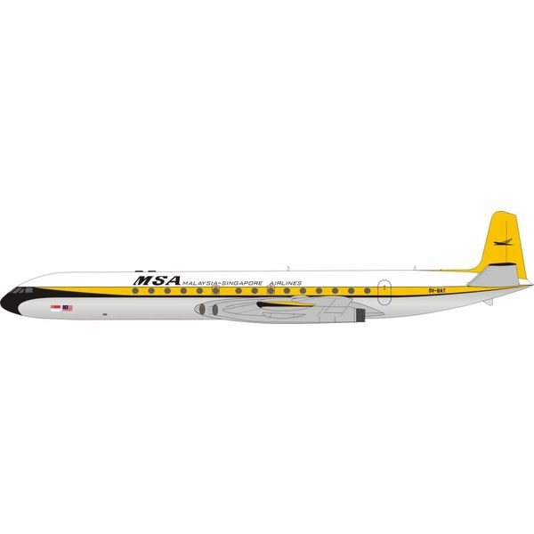 InFlight DH106 Comet 4 MSA 9V-BAT 1:200 Polished With Stand