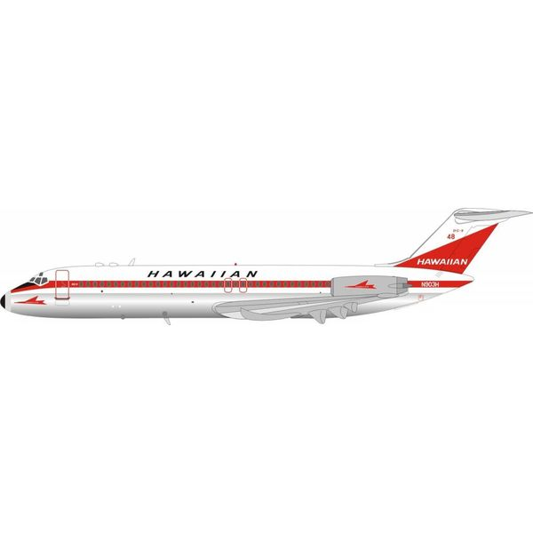 InFlight DC9-31 Hawaiian Air N903H 1:200 with stand Polished