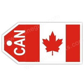 Luggage Tag Canada Flag
