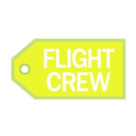 Luggage Tag Flight Crew White On Yellow
