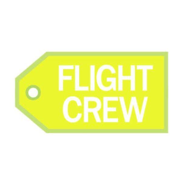 Luggage Tag Flight Crew White On Yellow