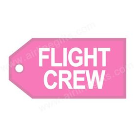 Luggage Tag Flight Crew White On Pink
