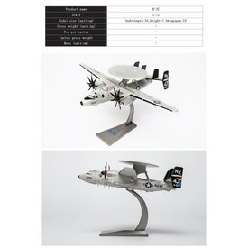 Air Force 1 Model Co. E2C Hawkeye VAW113 Black Eagles CAG NK-600 1:72