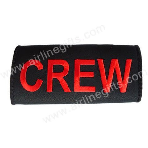 Luggage Handle Wrap CREW Red On Black