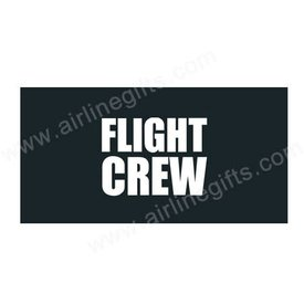 Luggage Handle Wrap FLIGHT CREW White on Black