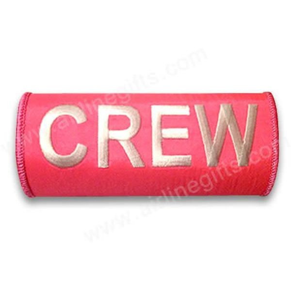 Luggage Handle Wrap Crew White On Pink