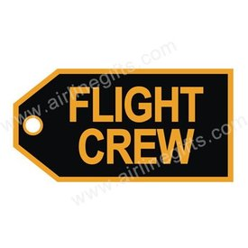 Luggage Tag Flight Crew Gold On Black