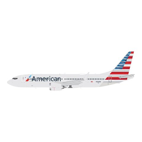 B737 MAX8 American 2013 Livery N324RA 1:200 with stand