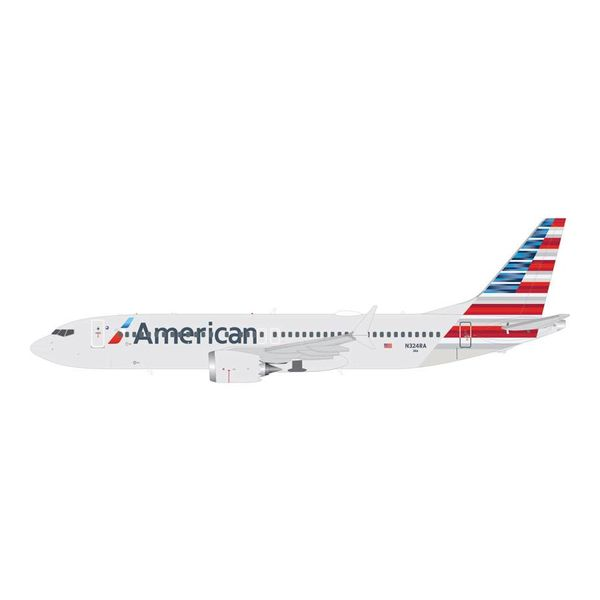 Gemini Jets B737 MAX8 American 2013 Livery N324RA 1:200 with stand