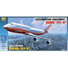 Zvesda ZVESDA B747-8I intercontinental Boeing House Livery Orange 1:144