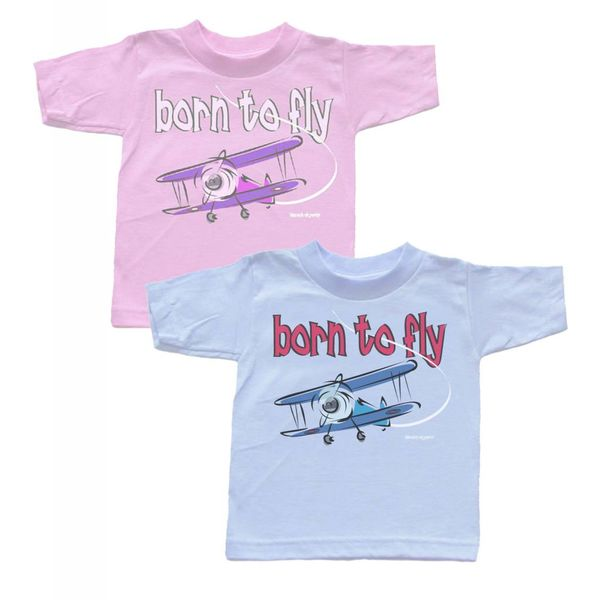 Labusch Skywear T/S BORN TO FLY PINK TODDLR 2T