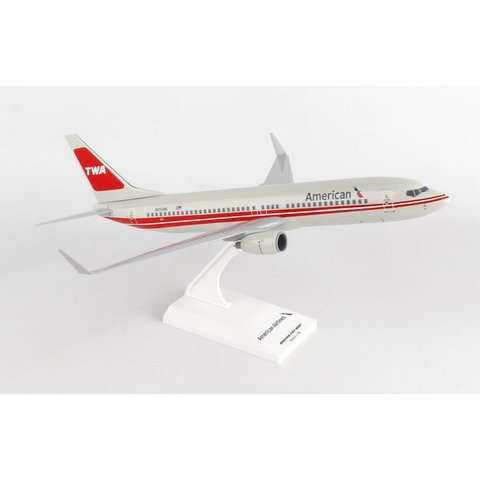 B737-800W American TWA Retro 1:130 with stand