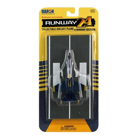 F18 Hornet Blue Angels US Navy with runway section