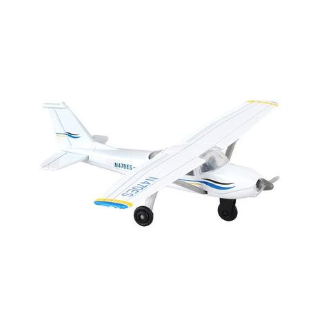 Cessna 172 Blue/white With Runway section