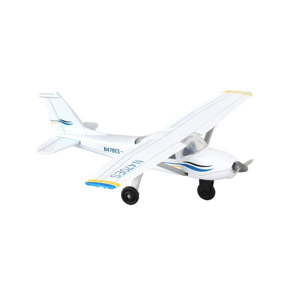 Runway 24 Cessna 172 Blue/white With Runway section